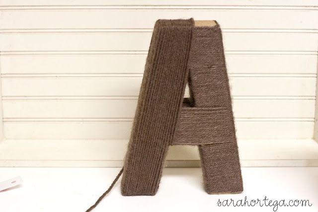 diy {yarn wrapped letters} | Yarn diy, Yarns wraps, Yarn ...