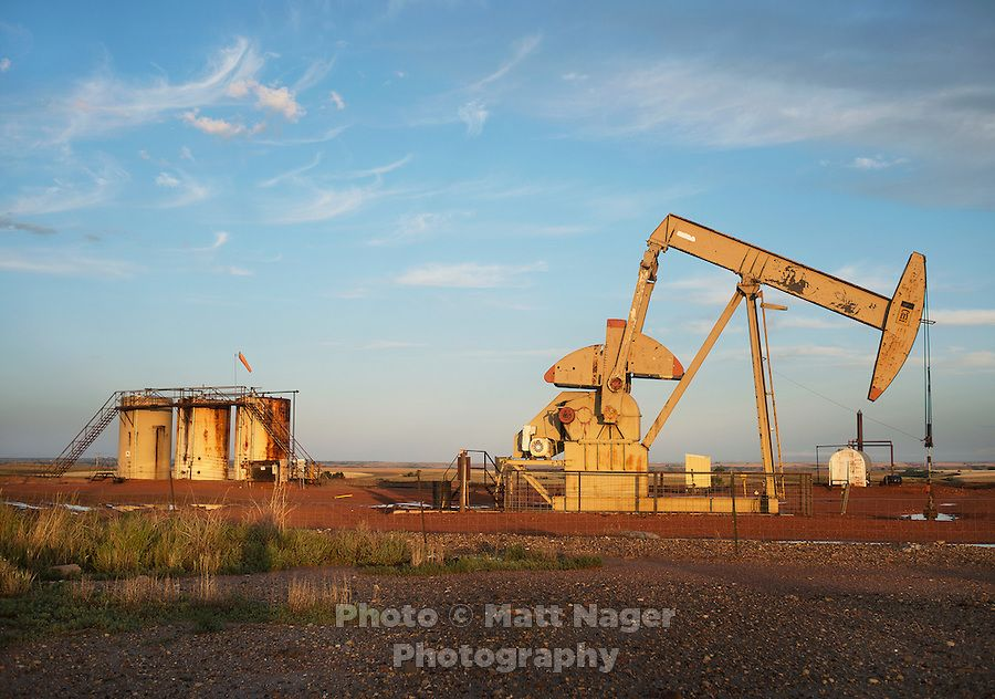 An oil rig near Williston, North Dakota where there is a