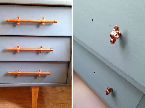 id es diy pour customiser ses poign es de meuble poignee meuble poign e et cuivre. Black Bedroom Furniture Sets. Home Design Ideas