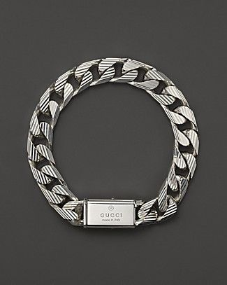 213f5b3766c4c Gucci Men s Trademark Stripes Link Bracelet