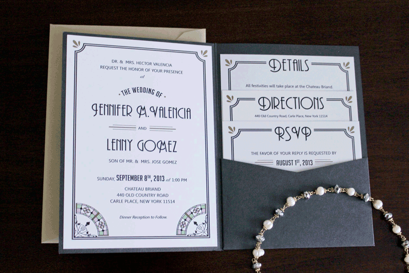 Superior Great Gatsby Wedding Invitations Is One Of The Best Idea To Create Your Wedding  Invitation With Mesmerizing Design 8