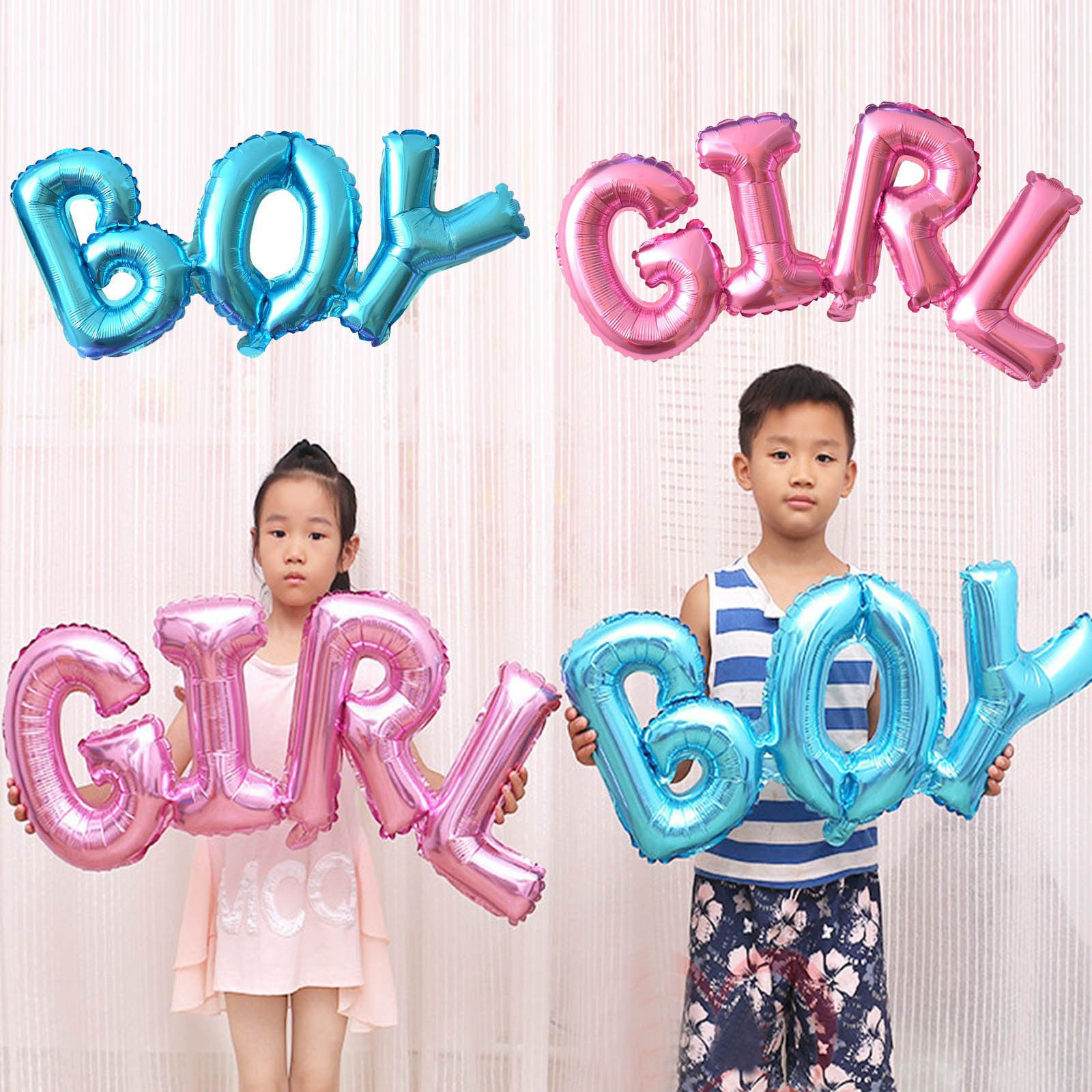 Boy Girl Connection Foil Balloon Birthday Inflatable Helium Baby Shower Ballon
