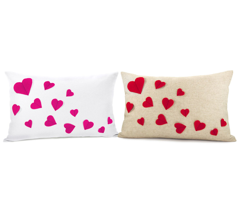 Hearts: Felt Applique Cushion | LUUUX