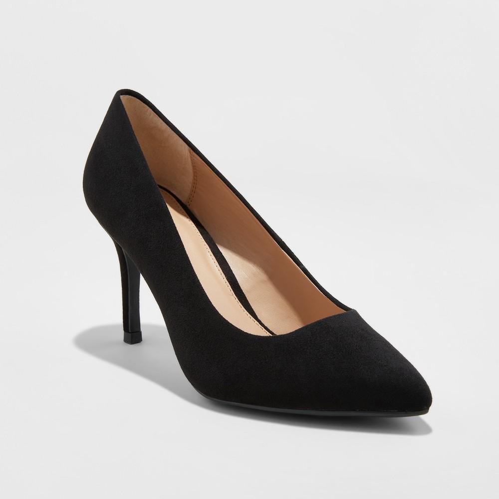 e89c4ff135e0 Women s Gemma Wide Width Pointed Toe Pumps - A New Day Black 9.5W ...