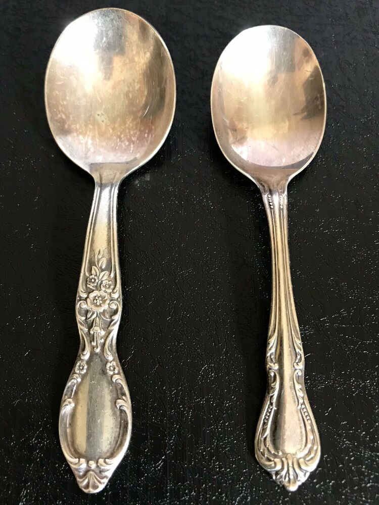 Rogers and Sons IS 3 Piece Set Of Baby Spoon Vintage Wm Fork And An Infant Spoon