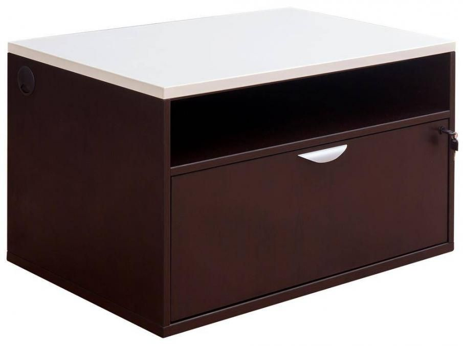 Storage Bench With Lower Lateral File