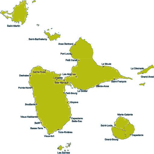 randonnée pédestre trace gps guadeloupe | 971 Guadeloupe à pied, à