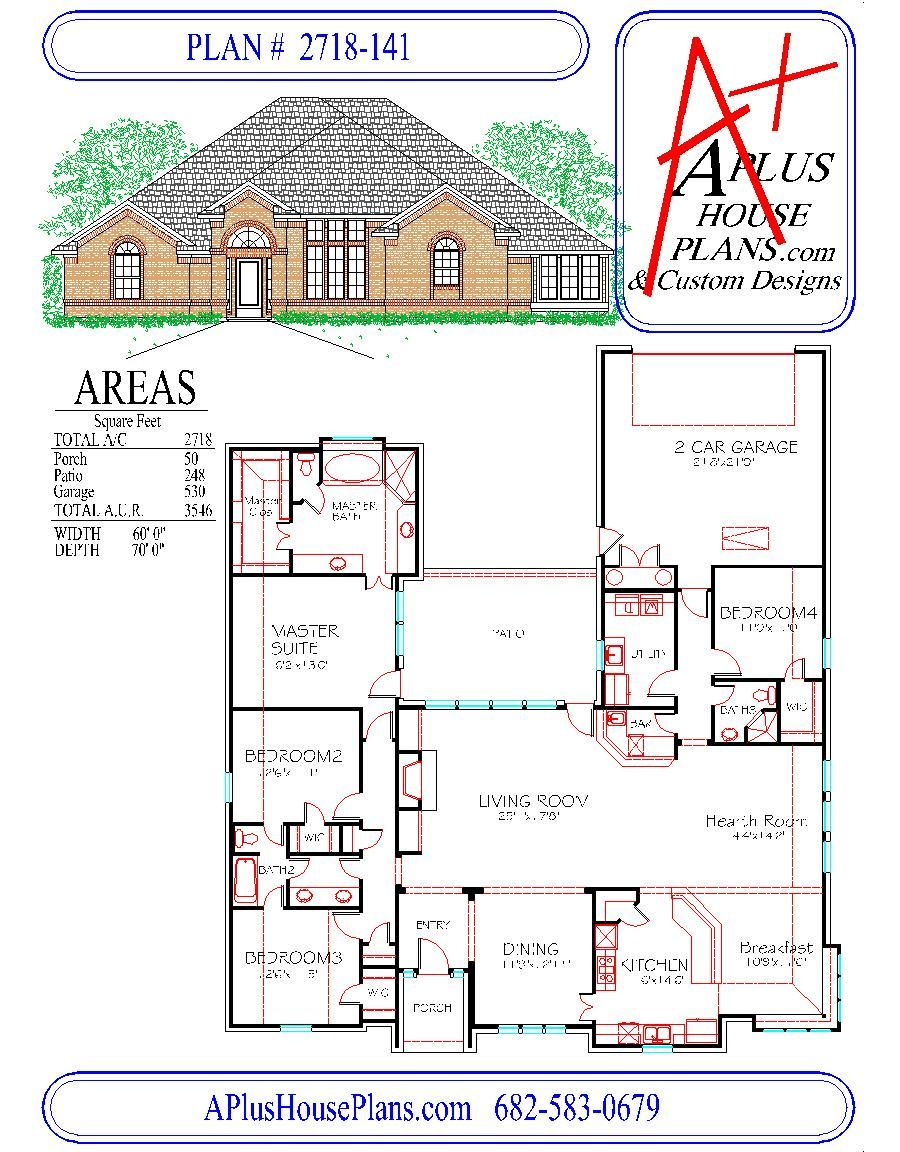 house plan 2718 141 traditional front elevation 2718 sqft one house plan 2718 141 traditional front elevation 2718 sqft one story floor