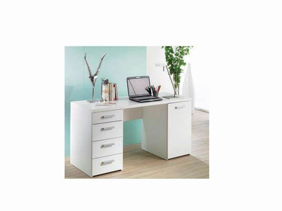 Plummers Great For Small Es The Study Desk Has 4 Drawers With Metal Handles In White Melamine Shown Here Or Black Affordable