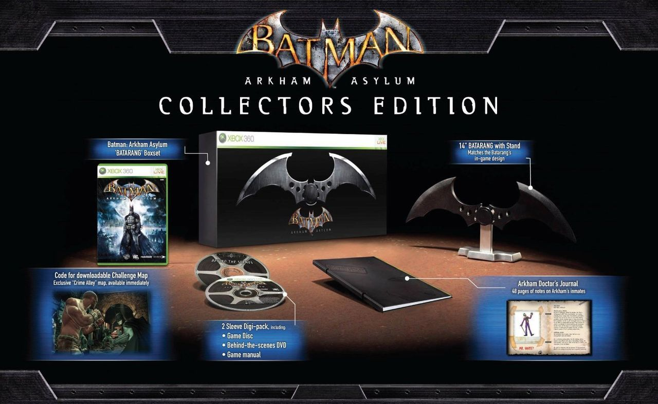 Batman Arkham Asylum Collector S Edition Pal Arkham Asylum