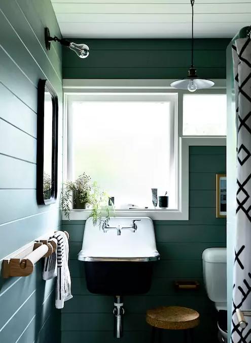 Green Bathroom More