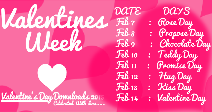 Valentines Week List1 Png 720 381 In 2020 Images For Valentines Day Kiss Day Valentines Day Date