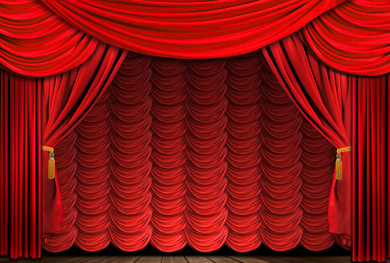 Rideau Rouge Scène Théâtre Red Is Red Rideaux Rouge Rideau