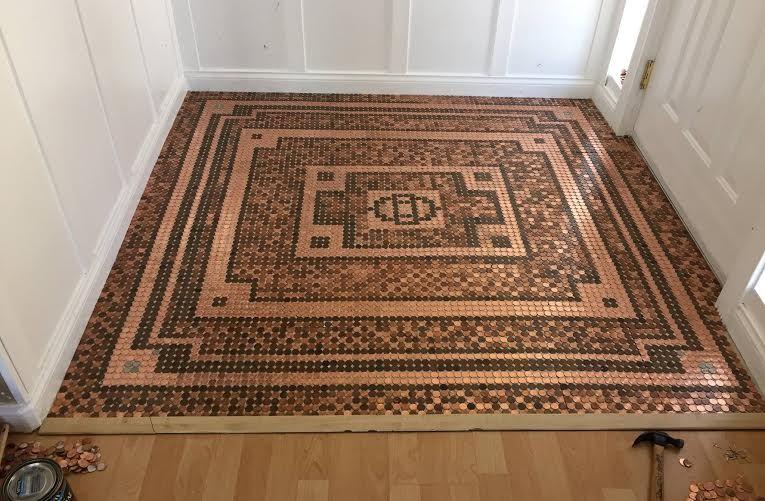Fußboden Mit Münzen ~ Diy floors that look like a million bucks münzen