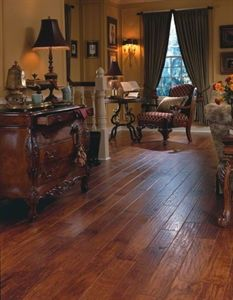Show Details For Anderson Virginia Vintage Hickory Autumn 5 Red Hardwood Wide Plank Handscraped Hardwood Floors Flooring Hardwood