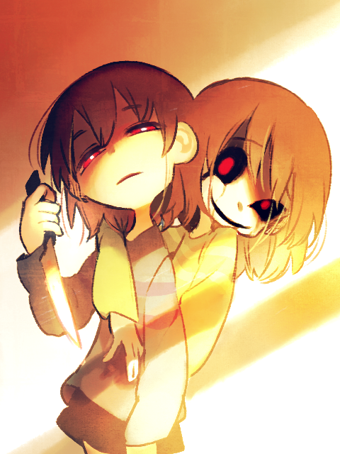 Frisk and Chara | ☽ undertale ☾ | Chara, Undertale au, Anime