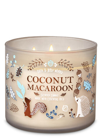 Coconut Macaroon 3-Wick Candle #scentedcandles
