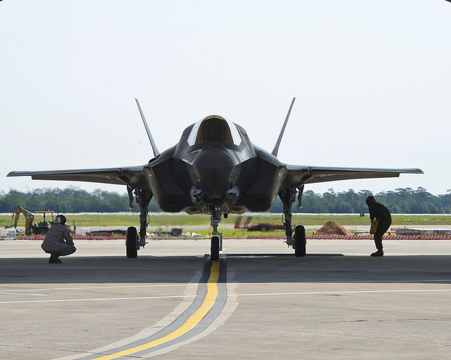 F-35B First Flight at Eglin AFB by Lockheed Martin, via Flickr- this is now my background on my PC.