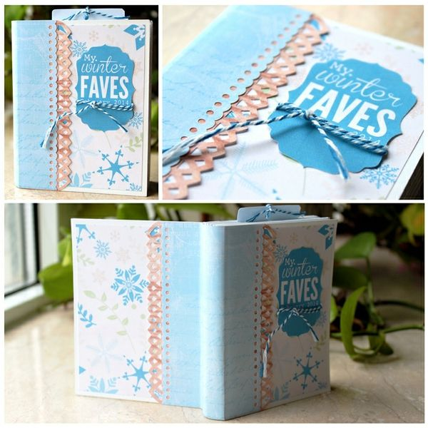 mini album, scrapbook, paper, silhouette cameo, 3x4 journaling cards, die cutting, winter faves, crafts, diy, digital scrapbooking  My Winter Faves 2014 - 3x4 Mini Album - Two Peas in a Bucket