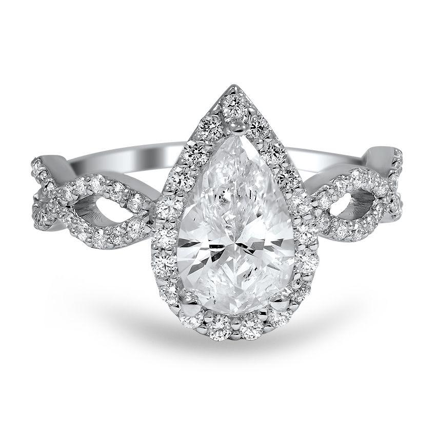 Infinity Pear Diamond Ring