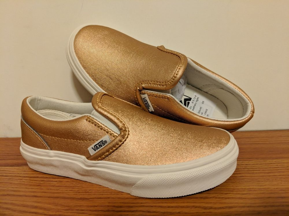 a25267c359 VANS New Classic Slip-On Metallic Leather Girl s Size USA 13  fashion   clothing  shoes  accessories  kidsclothingshoesaccs  girlsshoes (ebay link)