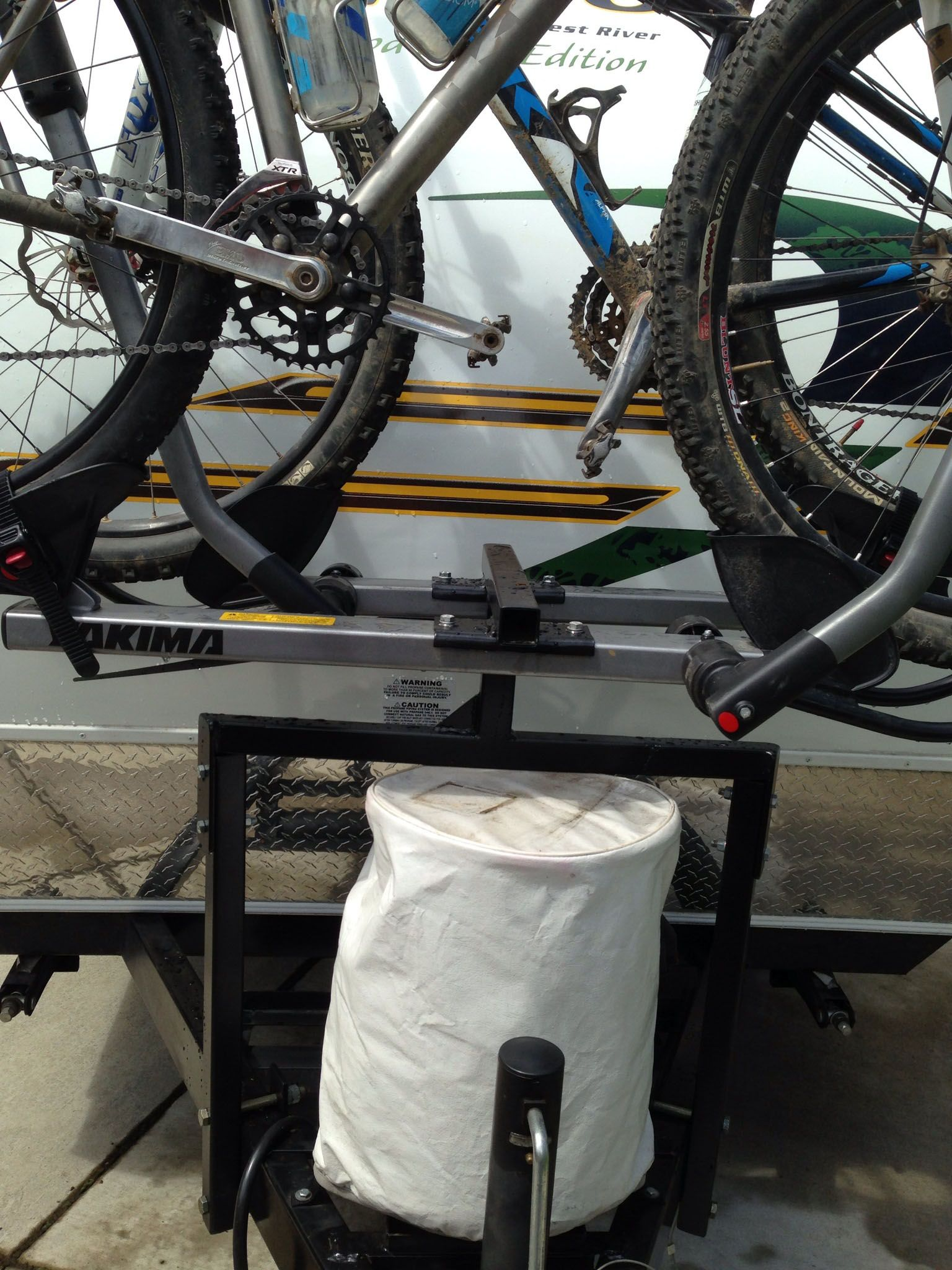 Trailer Tongue Bicycle Rack Bike rack, Bicycle rack, Rv