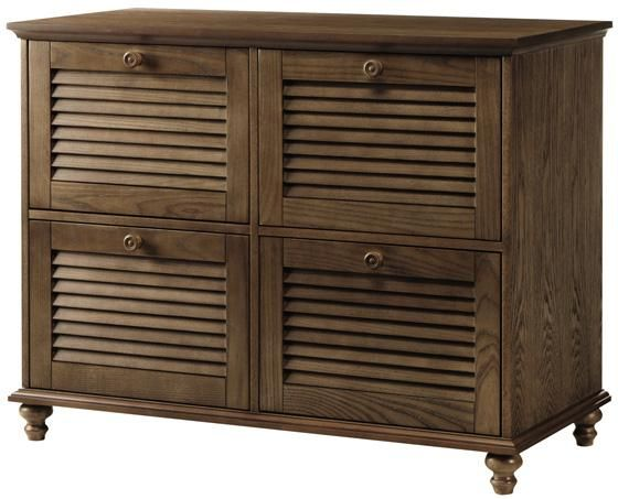 Shutter Four-Drawer File Cabinet - File Cabinets - Home Office - Master  Suite,