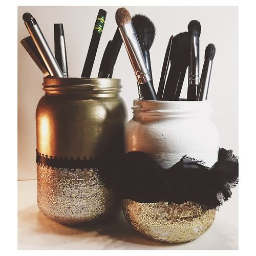 Diy makeup brush holder | Makeup Organization & Vanities ...