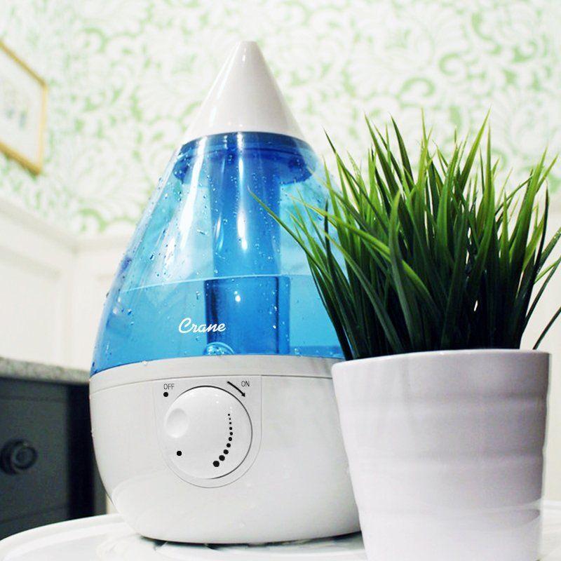 Crane S Drop Ultrasonic Cool Mist Humidifier Is Their 1 Best Selling Ultrasonic Cool Mist Cool Mist Humidifier Ultrasonic Cool Mist Humidifier Best Humidifier
