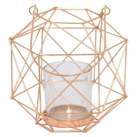 "7""x6.5"" Metal Candle Holder - Copper : Target"