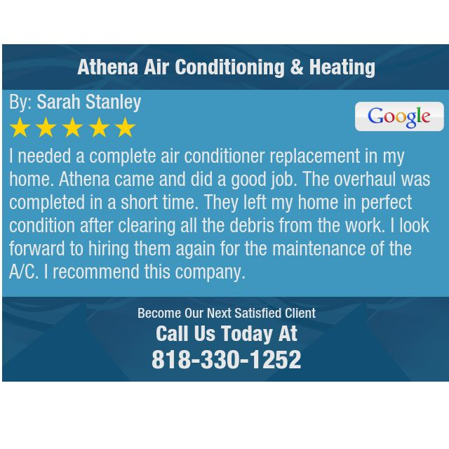 I Needed A Complete Air Conditioner Replacement In My Home Athena