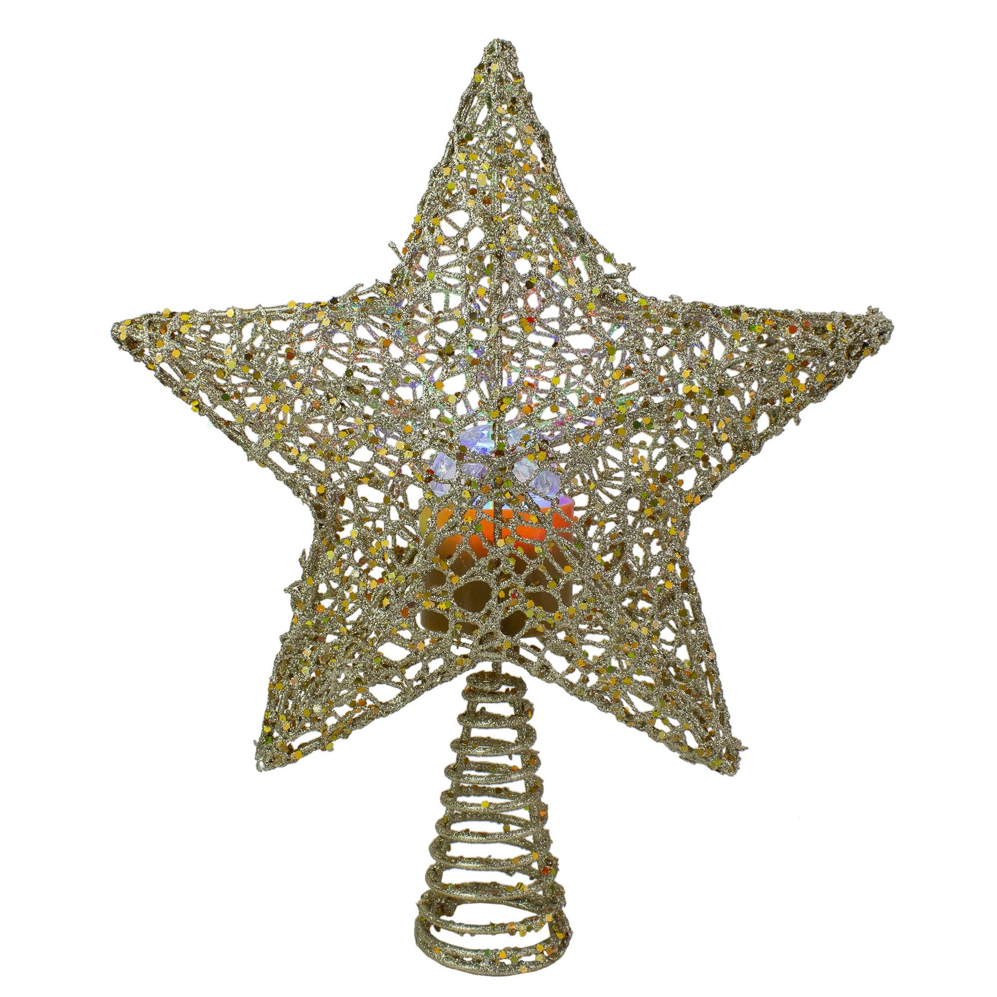 """Northlight 13"""" LED Lighted Gold Star with Rotating"""
