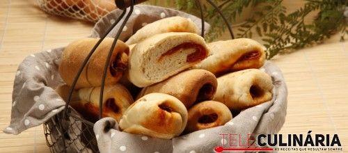 Receita de Pão com chourição. Descubra como cozinhar Pão com chourição de maneira prática e deliciosa com a Teleculinária!