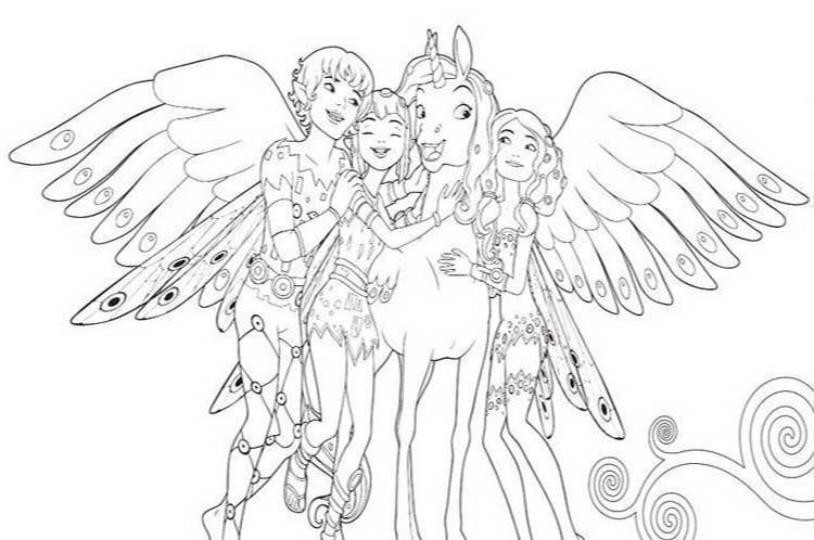 coloriages gratuits mia et moi (mia and me) | unicorn