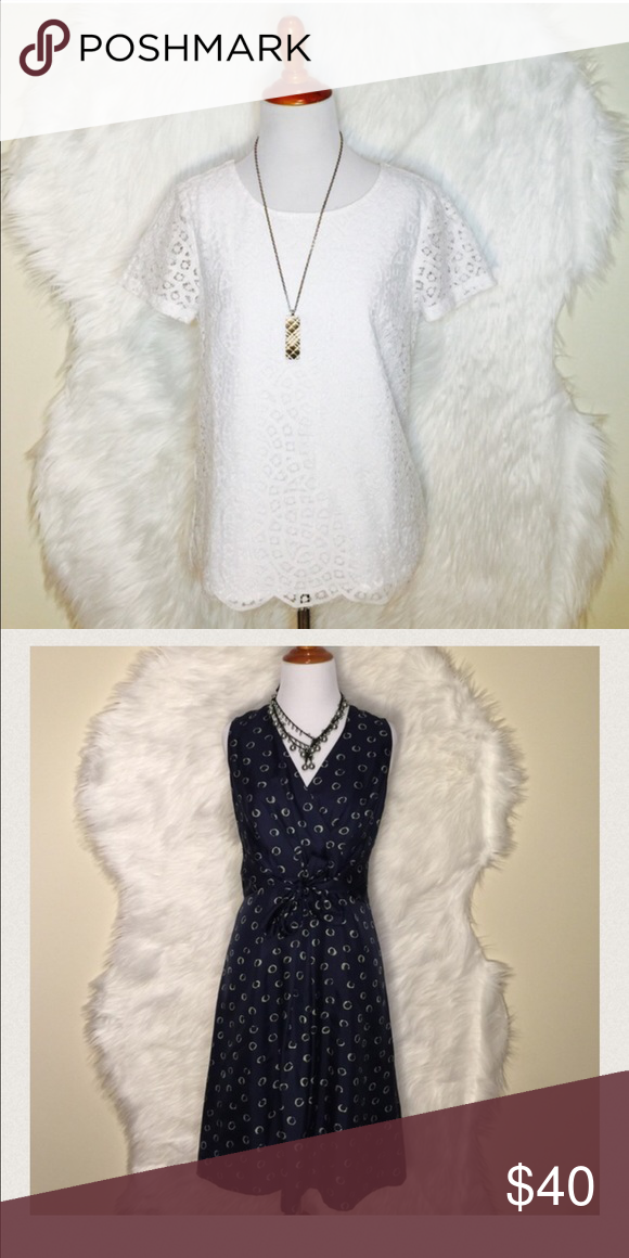 Bundle for @mindyjk J.Crew Lace Top & Talbot J.Crew Lace Top & Talbot Dress J. Crew Tops Blouses