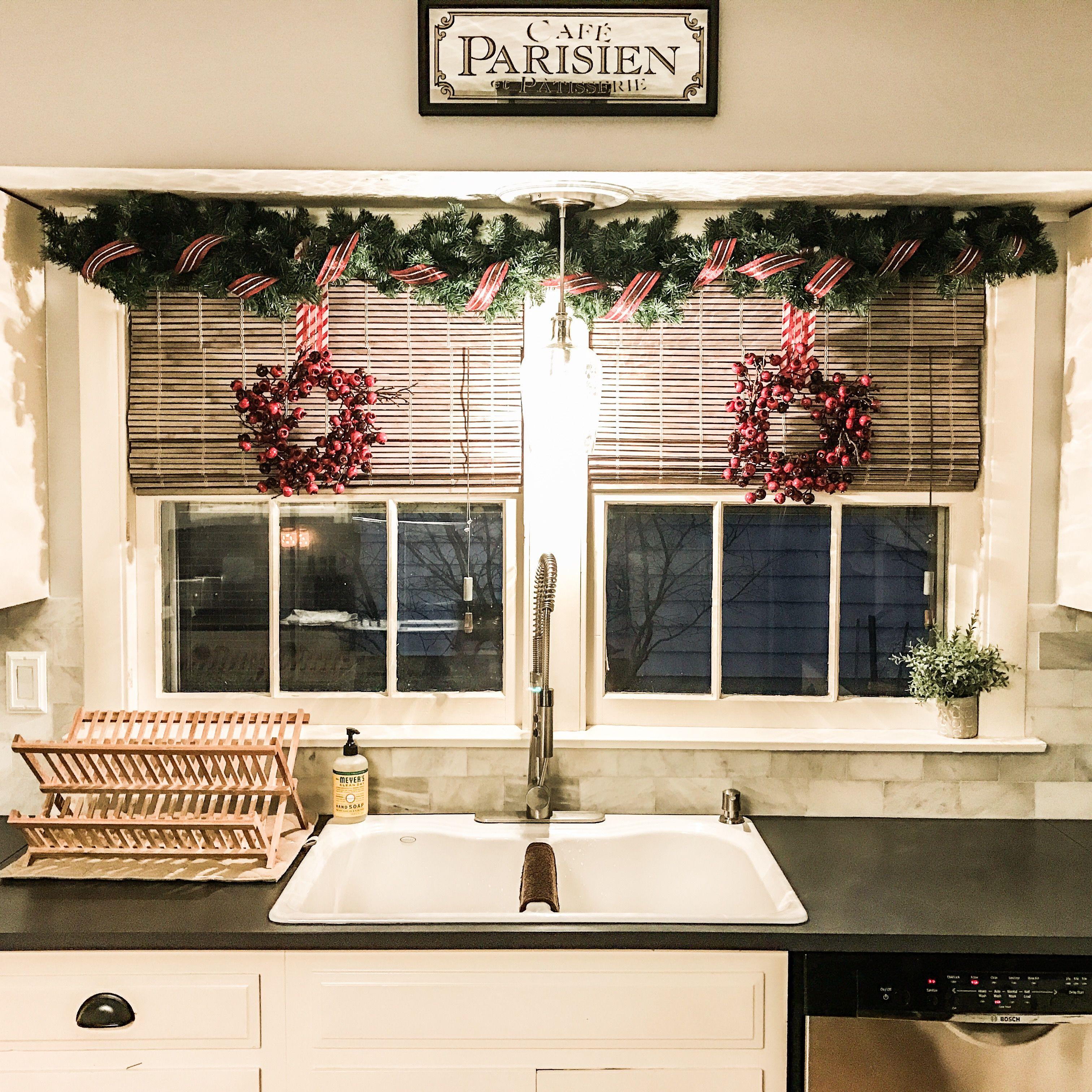 DIY Christmas Decor Above Kitchen Sink Christmas Decor