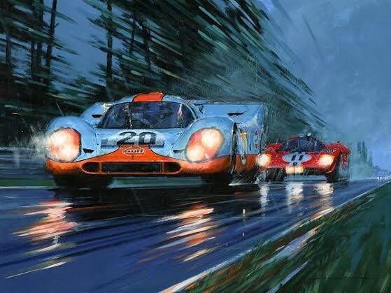 The Porsche Cayman Gt4 Auto Racing Art Motorsport Art Car Art