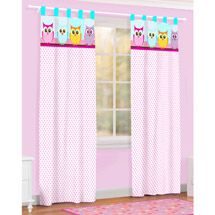 Walmart: Owl Microfiber Curtain Drape, Set of 2