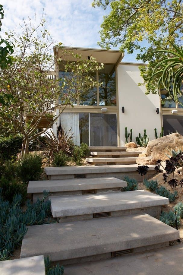 Best Jora And Bryan S Midcentury Organic Remodel Exterior Stairs Outside Stairs Garden Stairs 400 x 300
