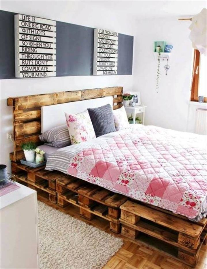pallet bed frame - 30 DIY Pallet Ideas for Your Home | 101 Pallet ...