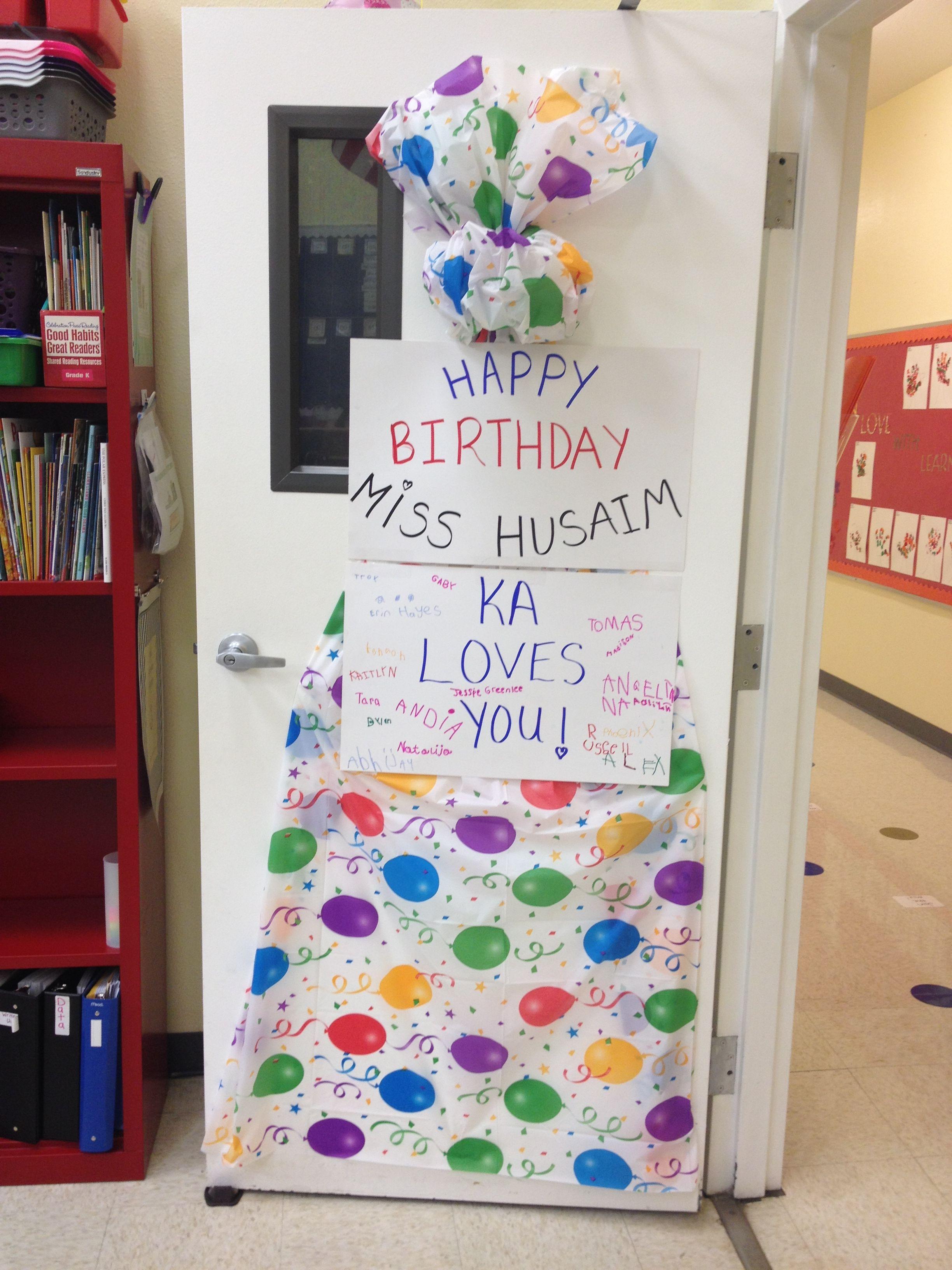 Teacher Birthday Door Decoration Birthday Door Decorations Teacher Birthday Birthday Door