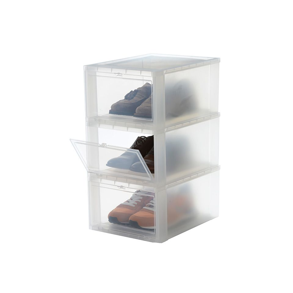 Iris Small Drop Front Schoenenbox Voor Mannen 3 Stuks