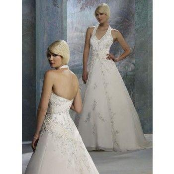 luxus alinie lang natürliche taille brautkleider hochzeit in der halle  braut brautkleid