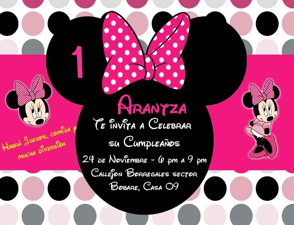 Minnie Coqueta Invitaciones Creativas deco cumple in 2019 Disney, Disney characters