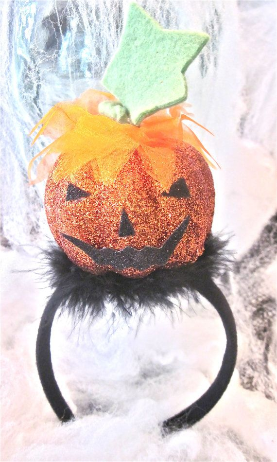 Head Band   Cute little Pumpkin  by Themejewelryandacces on Etsy, $12.00