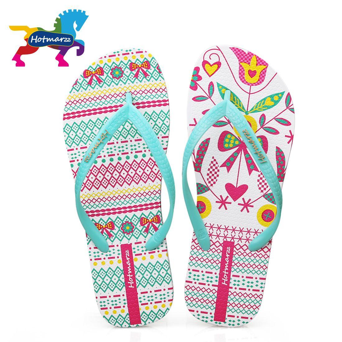 39e76e5023d7 Hotmarzz Women Comfy Unique Print Flat Flip Flops Ladies Home House Summer  Beach Slippers Thong Sandals Flip-flop Shoes