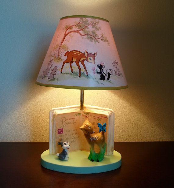 Vintage Bambi Lampand Bambi Lamp Shade made by ...