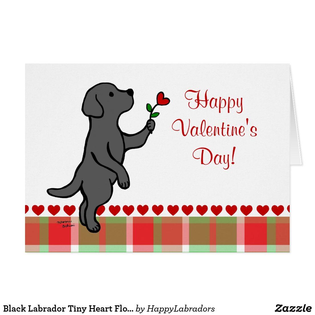 Black Labrador Tiny Heart Flower Valentine Holiday Card Zazzle Com Funny Wedding Signs Tiny Heart Black Labrador
