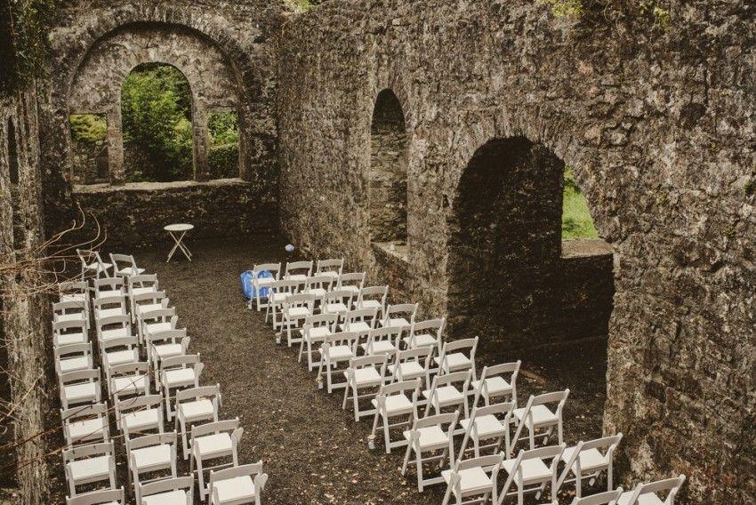 Loughcrew House Wedding Outdoor Ceremony Ruinsirelandold Church