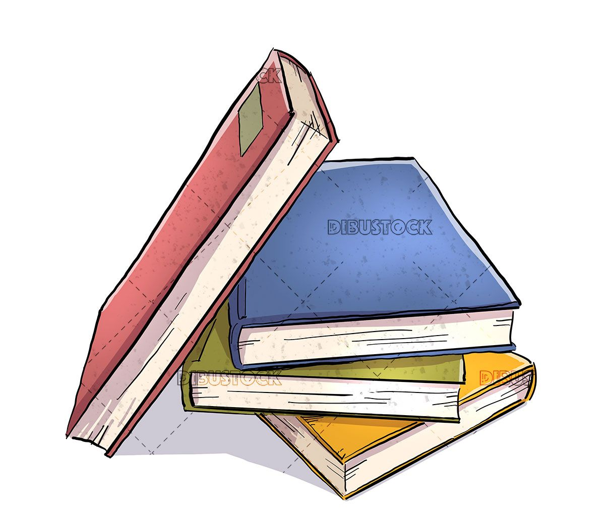 Stack Of Colored Books In 2020 Books Color Literature